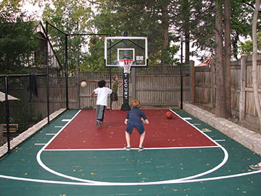 Family Basketball Court Builder