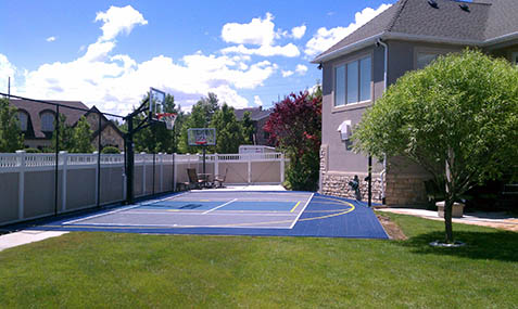 Outdoor Basketball Court Builder and Accessories