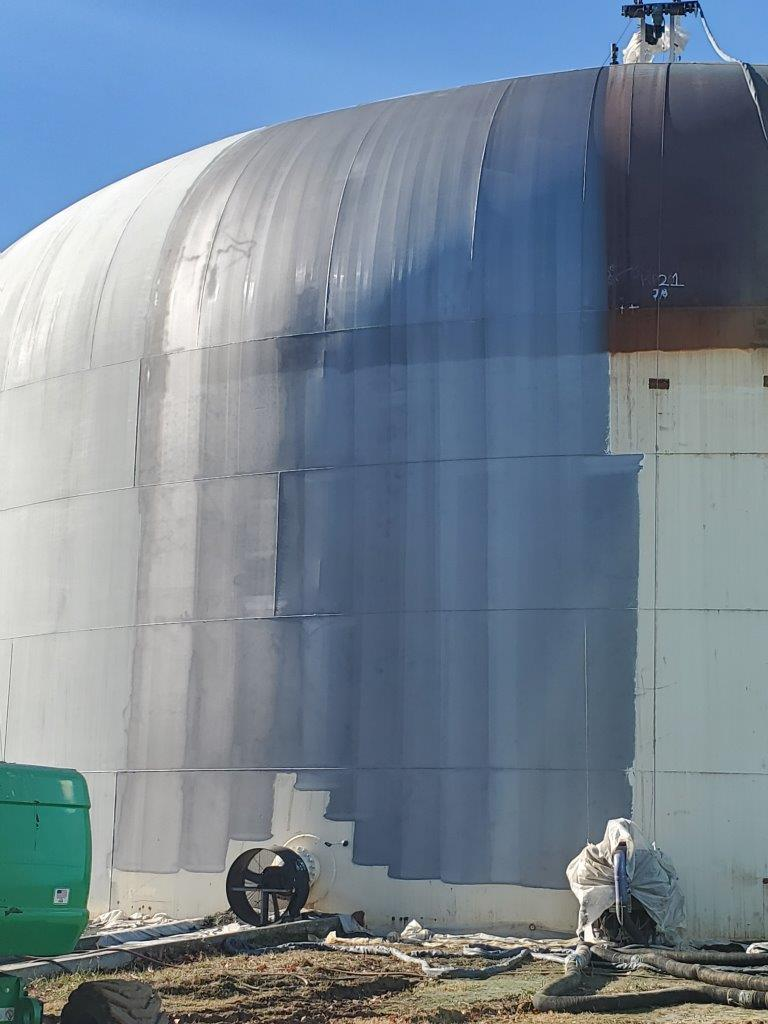 Automated Blasting and Painting on Water Tank Exterior