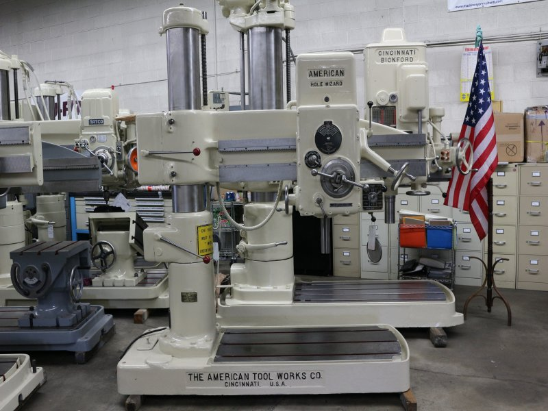 "American Hole Wizard 4' x 9"" Radial Arm Drill #6834"