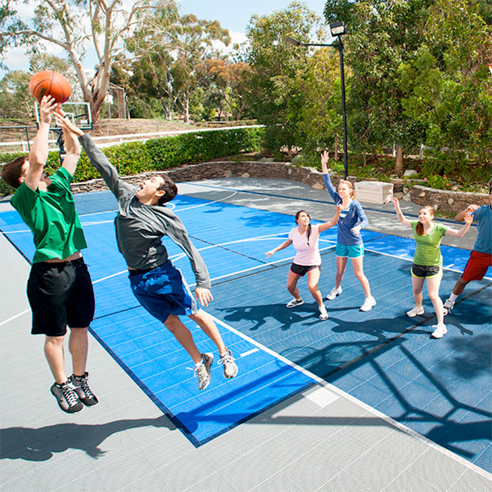 Fitness studios facilities sport court for How to build basketball court
