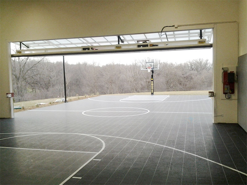 Backyard basketball court by Sport Court