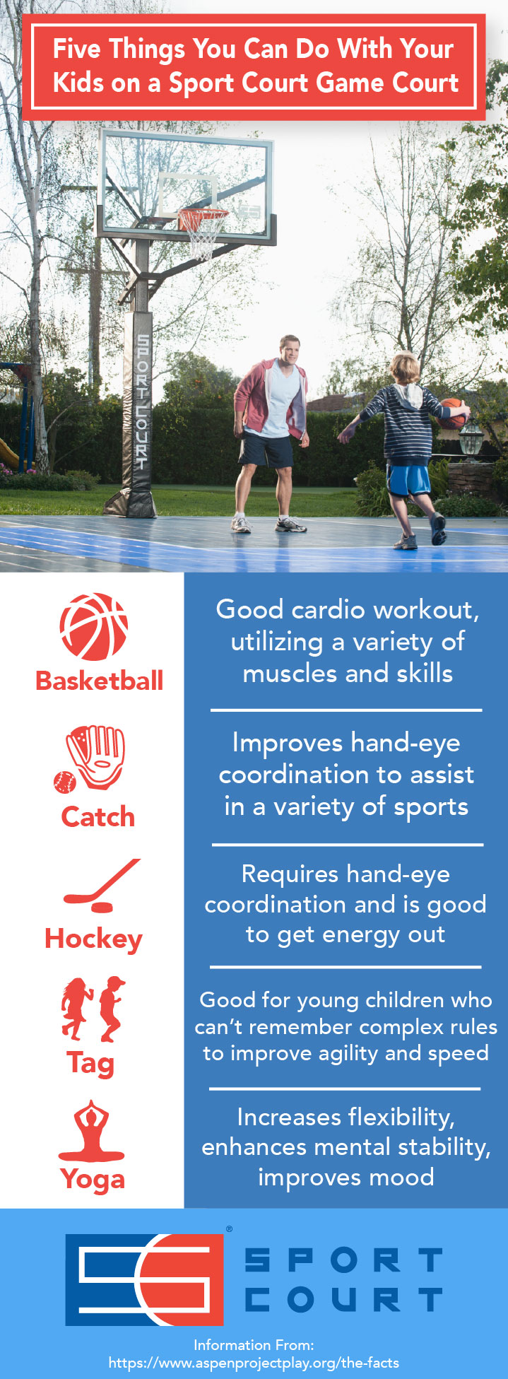 Five Things You Can Do With Your Kids on a Sport Court Game Court