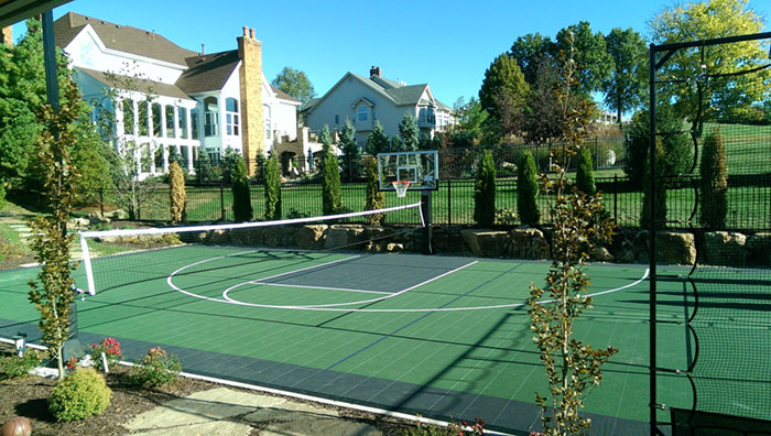 Custom-court Home-gym Multi-sport Basketball Tennis Backyard-court Family Sport Family