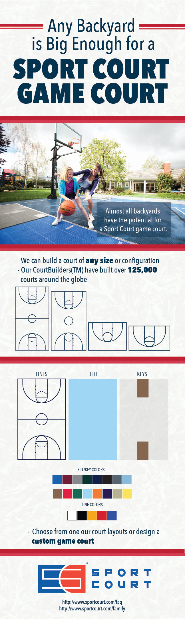 No Matter the Yard, Sport Court Game Court Can Fit