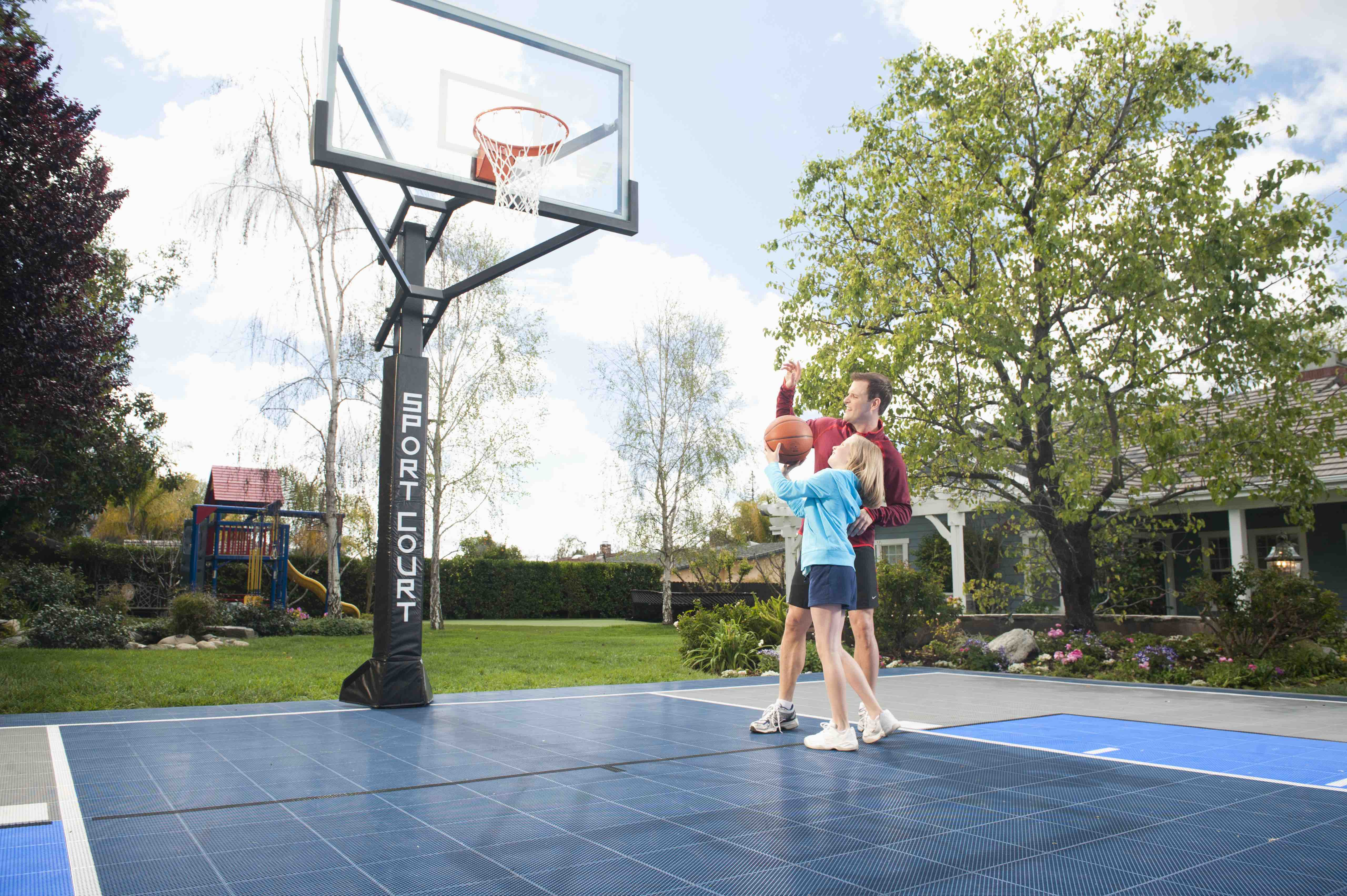 Great Shots You Can Perfect on Your Sport Court Backyard Basketball Court