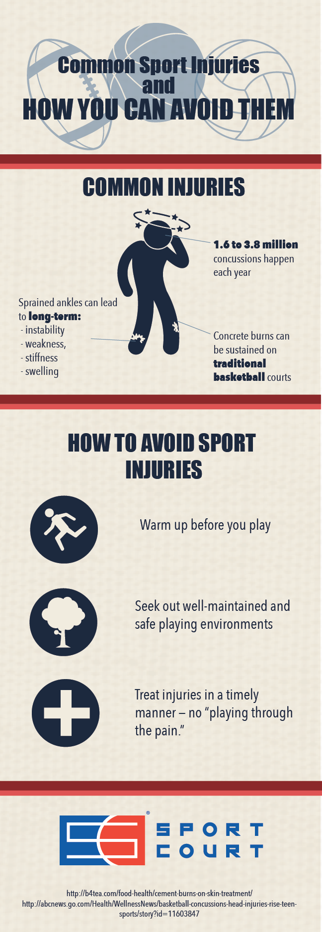 Injuries You Can Avoid on a Sport Court Game Court