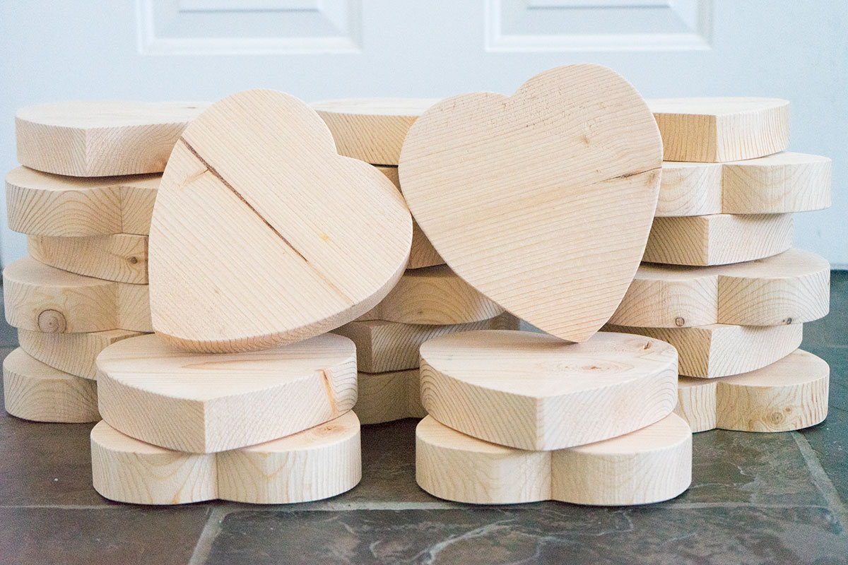 wood conversation hearts