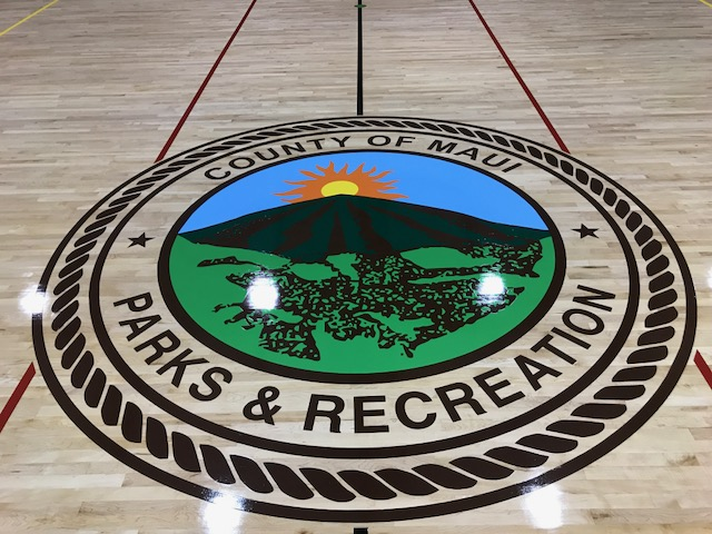 Lahaina Civic Center - Gym Floor Logo