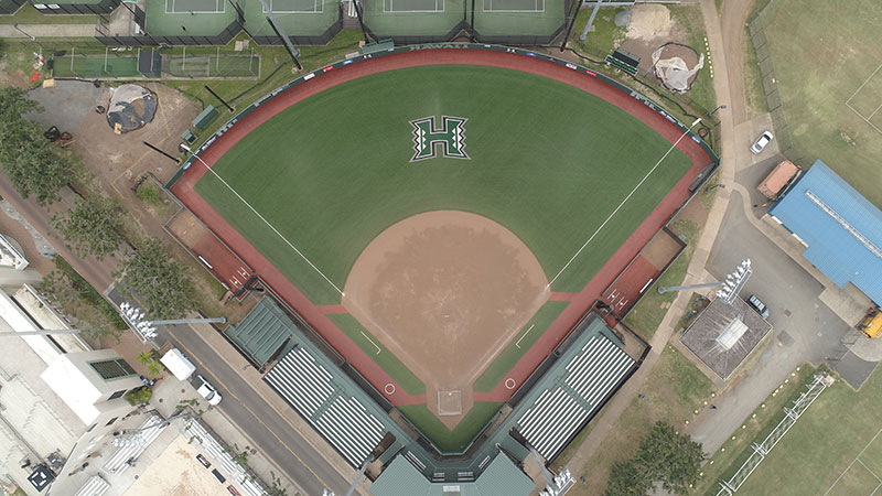 Rainbow Wahine Softball Stadium - Synthetic Turf