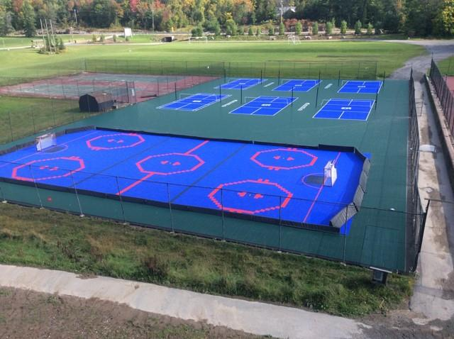 Tennis Court Complex Gets Transformed into New Multi-Sport Courts