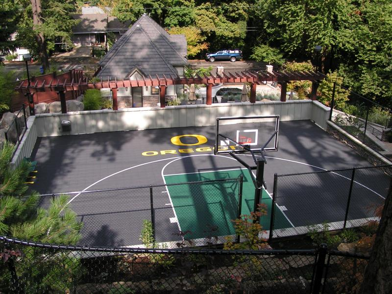 Oregon Ducks Sport Court Basketball Court
