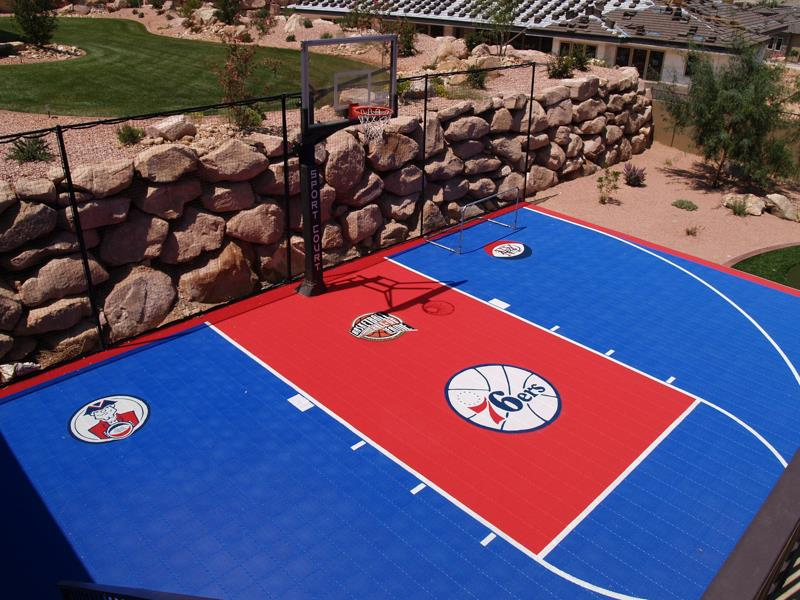 Philadelphia 76ers Sport Court basketball court