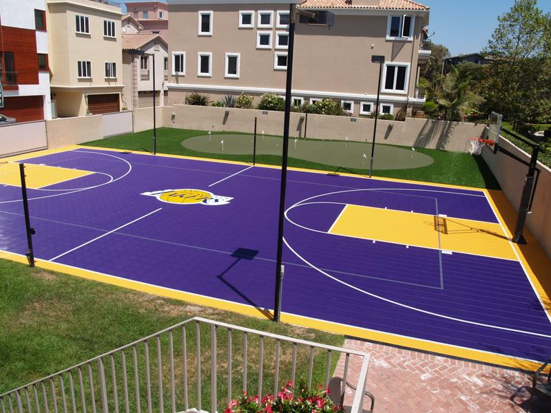 LA Lakers Sport Court Basketball Court