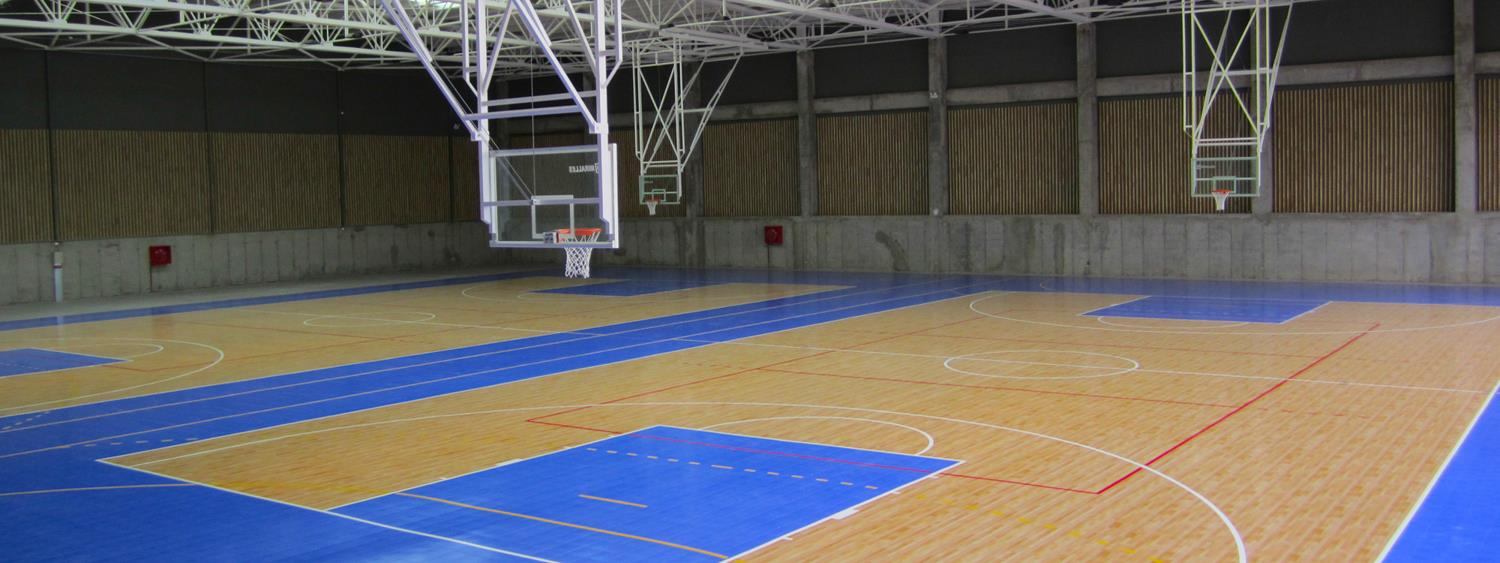 Gym floors and outdoor courts for commercial facilities for Build a basketball court