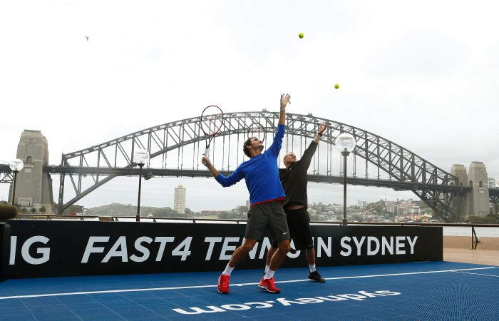 Tennis Legen Federer Launches FAST 4 TENNIS in Sydney, Australia