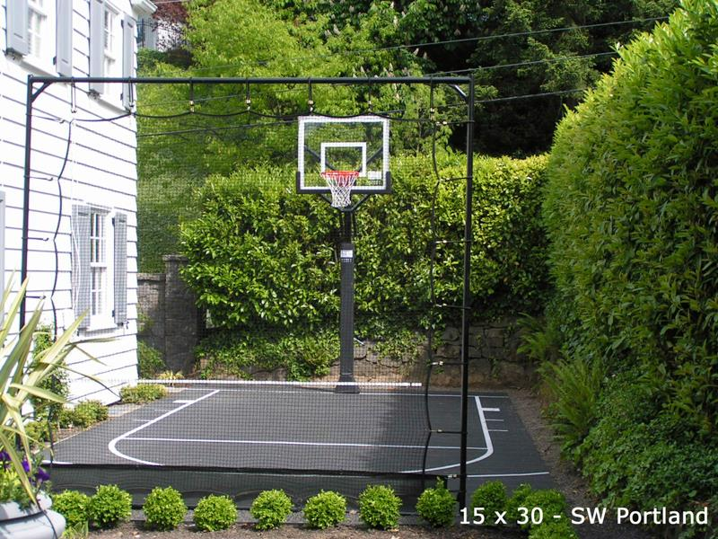 side yard sport court basketball court