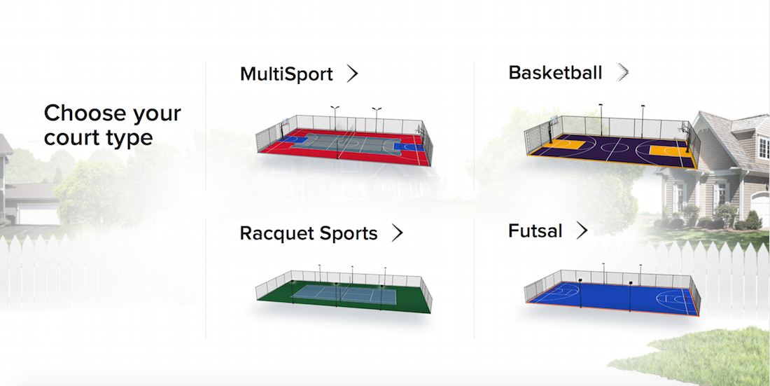 Design a court sport court for Indoor sport court dimensions