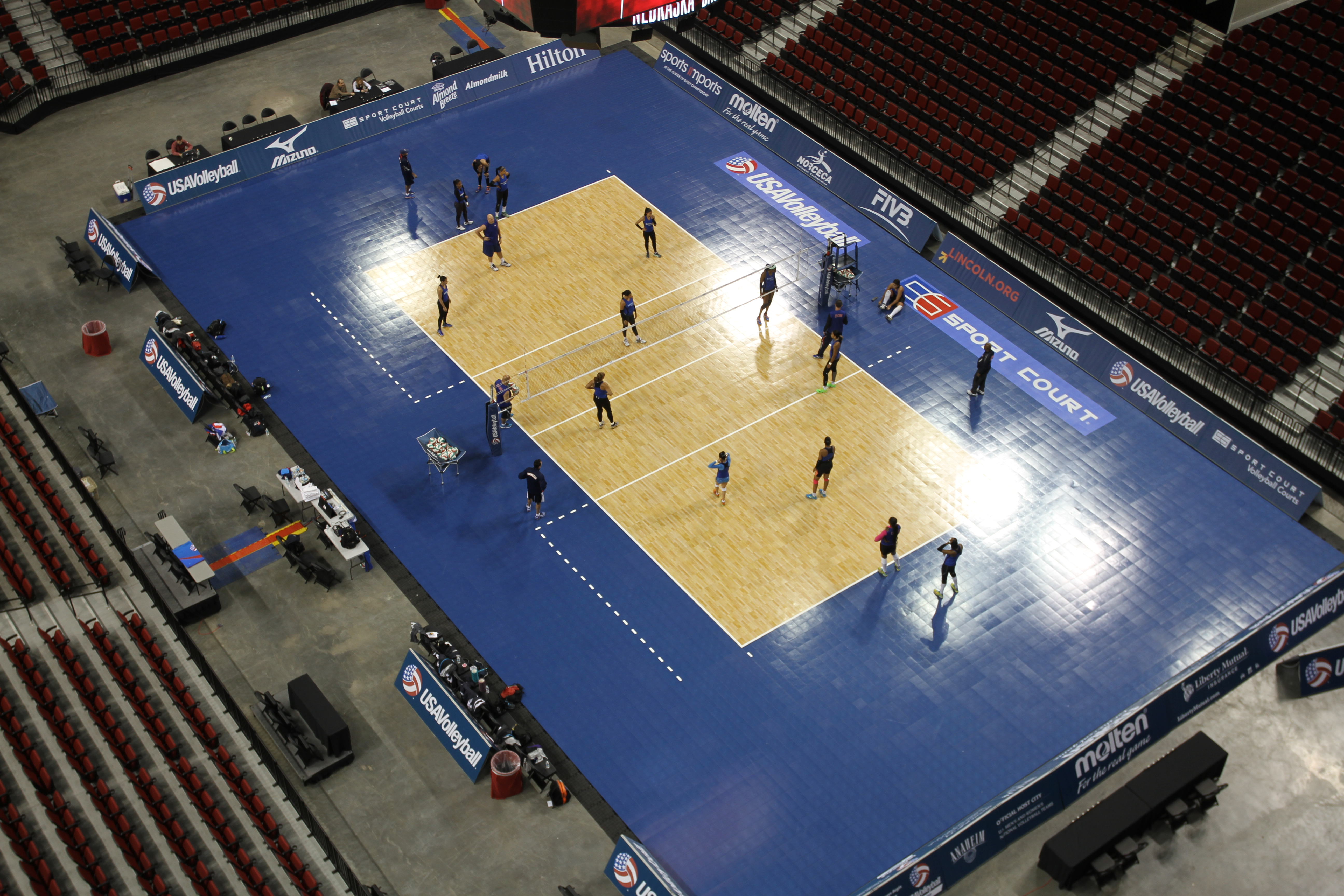 USAV Practices on the Sport Court Volleyball Court