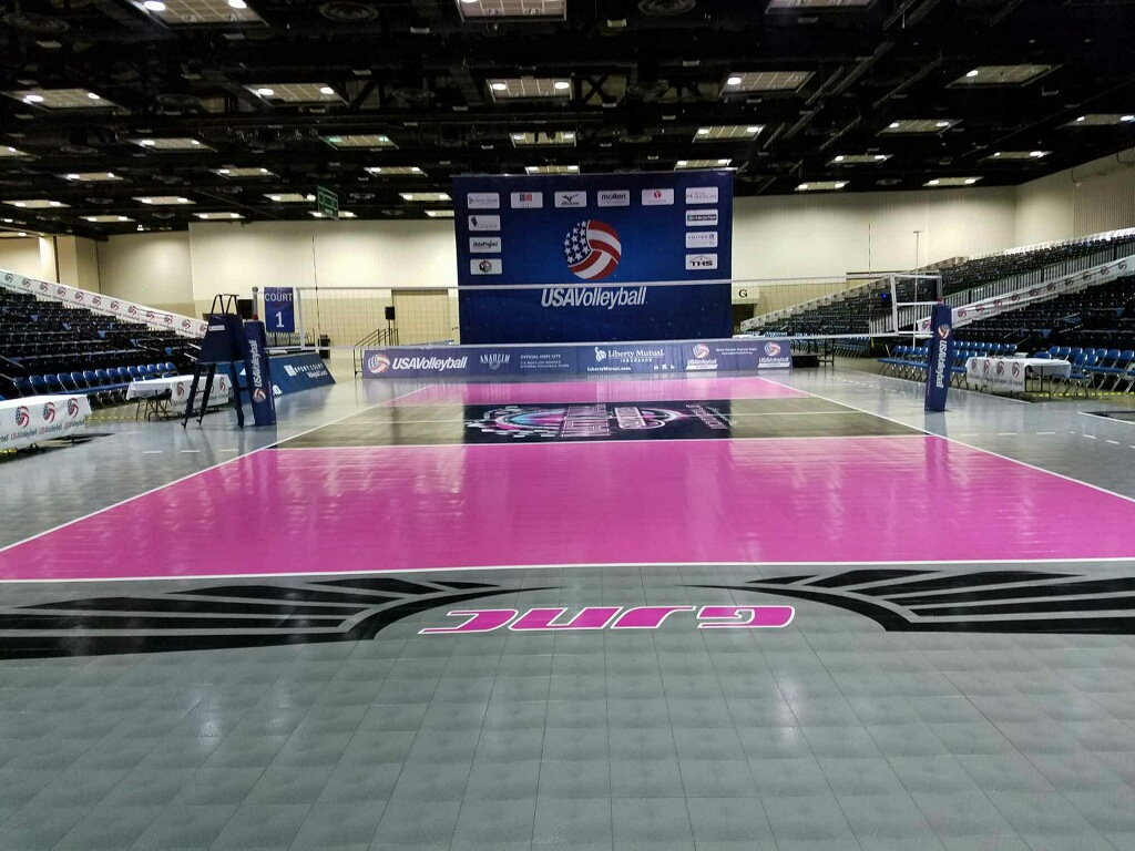 USA Volleyball Sport Court Championship Court