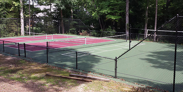HOA Tennis Court converted to Pickleball and Volleyball