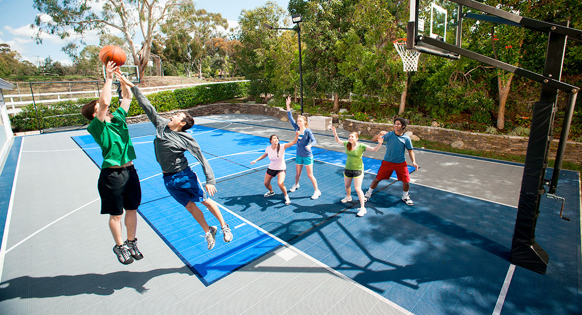 Palm Beach, Florida Backyard Basketball Court by Sport Court