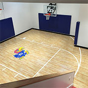 Sport Court with Custom Logo using Maple Select