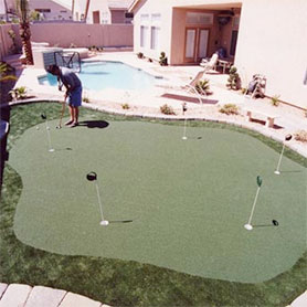 Home Putting Green by Sport Court