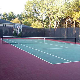 Home Tennis Court with Sport Court Surface