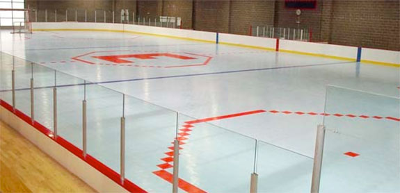 Roller hockey flooring