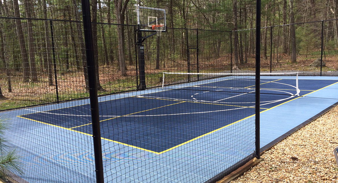 Home Tennis Court & Basketball Court