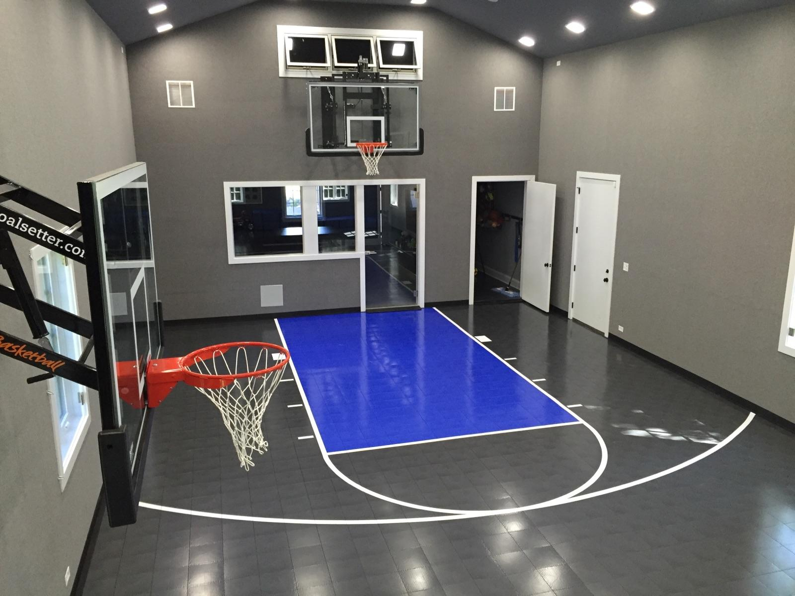Family sport courts convenient backyard courts sport for Basketball court at home