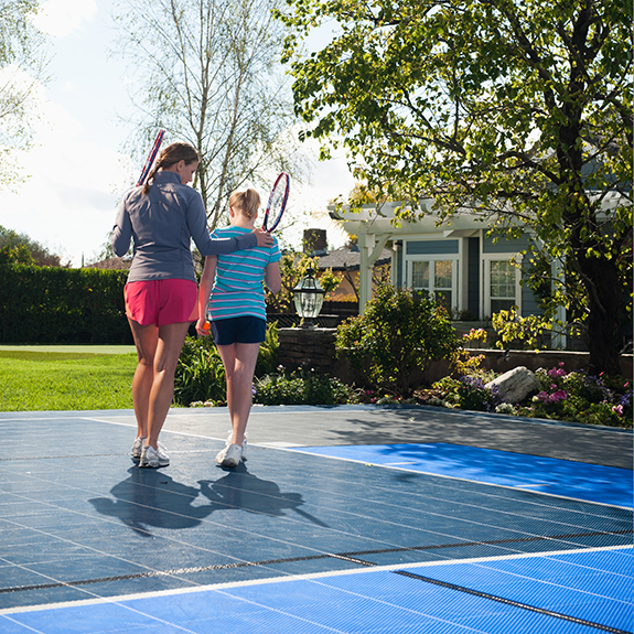 Backyard Tennis Court  - Sport Court Tennis Court Surfaces