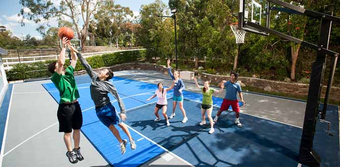Game On! Home Basketball Court from Sport Court