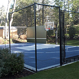 Massachusetts Outdoor Basketball Court Flooring