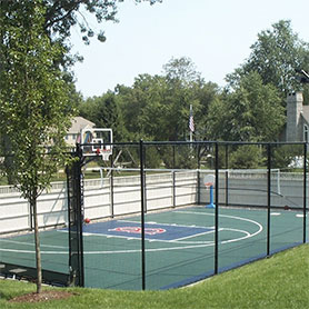 Backyard Basketball Court in by Sport Court Massachusetts