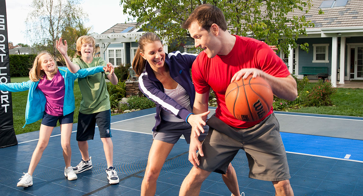 Backyard sports flooring