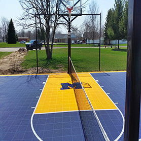 Sport Court Tennis and Basketball Court with Custom Logo