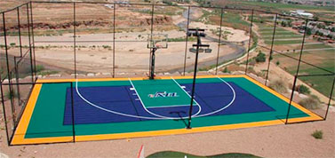 Backyard Basketball Court by Sport Court Utah
