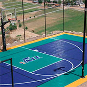 Custom Sport Court Outdoor Athletic Tile Court with Utah Jazz logo