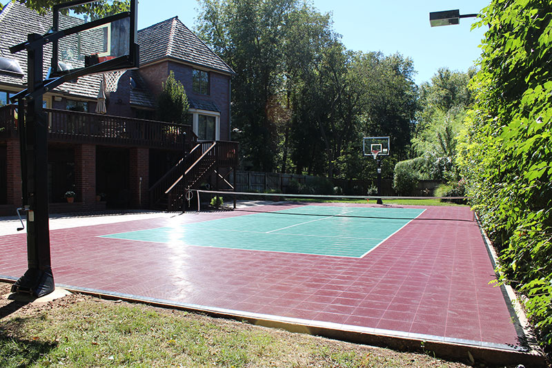 Tennis Backyard-court Basketball Family Outdoor Sport