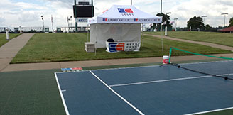 Outdoor Commercial Tennis Court Facility Builder