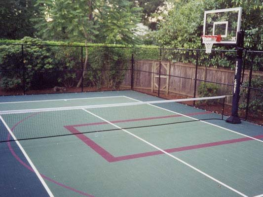 Tennis Outdoor Basketball Backyard-court Family Sport