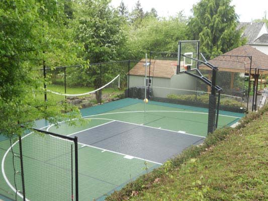 Outdoor Basketball Backyard-court Family Sport Multi-sport
