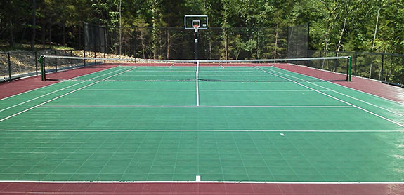 Outdoor Basketball / Tennis Court Builder and Accessories