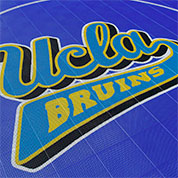 Custom Logo Basketball Court Flooring - UCLA Bruins Basketball Court by Sport Court