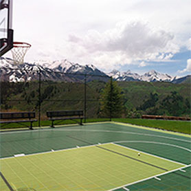 Backyard Basketball Court | Gym Flooring | Home Tennis Courts ...
