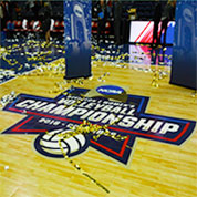 NCAA Championship Custom Logo Basketball Court Floors by Sport Court