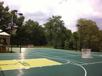 Home Basketball Court with Sport Court Tiles
