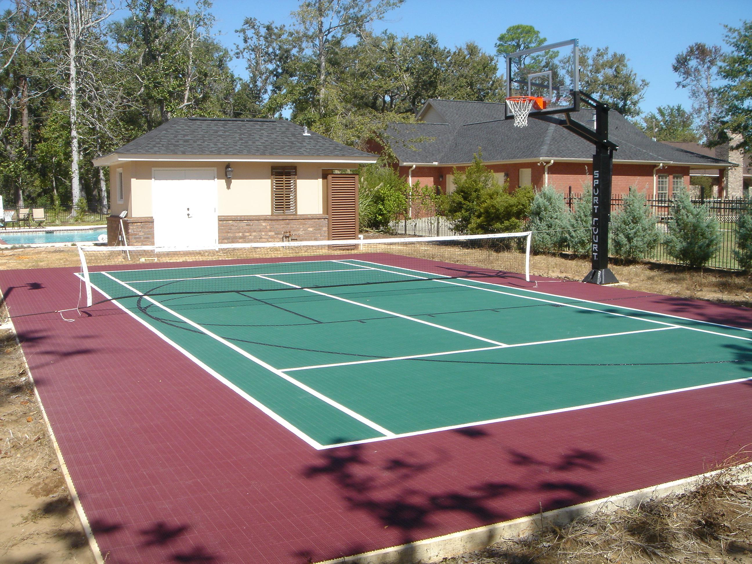 Backyard Basketball Court Home Tennis Court Home